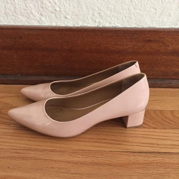 d8461090565 Calvin Klein Genoveva Block Heel Blush/Nude 7.5